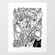 Funny Vegetables Art Print