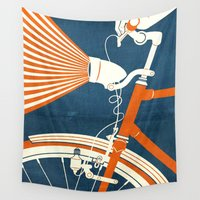 bicycle Wall Tapestries featuring Bicycle Light by Fernando Vieira