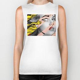 Roy Lichtenstein's Crying Girl & Grace Kelly Biker Tank