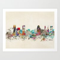 maryland Art Prints featuring baltimore maryland by bri.buckley