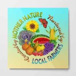Mother Nature Local Farmer Metal Print
