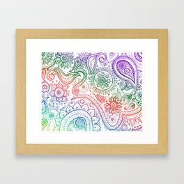Paisley natural Framed Art Print