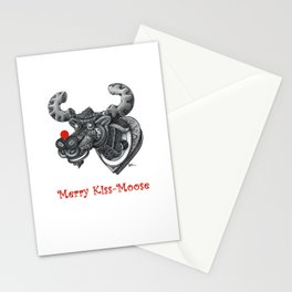 Merry Kiss-Moose Stationery Cards