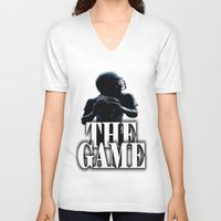 football V-neck T-shirts featuring FOOTBALL  by Robleedesigns