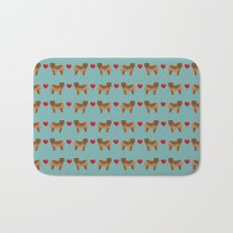 Chow Chow dog breed pure breed valentines day hearts love pet gifts must have doggo pupper lovers Bath Mat