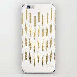 Gold Cattails iPhone Skin