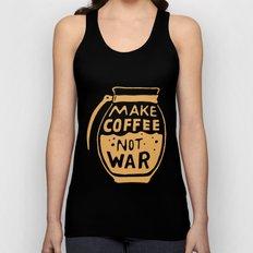 Make Coffee Not War Unisex Tank Top