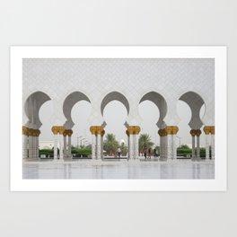 Sheikh Zayed Mosk in Abu Dhabi Art Print
