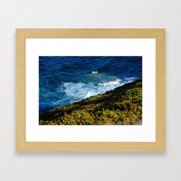 Fear of heights. Framed Art Print
