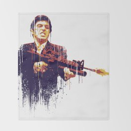 Scarface Throw Blanket