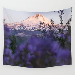Mt Hood Wildflowers Wall Tapestry