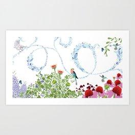 Meadow scene (full) Art Print
