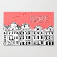 prague Canvas Prints featuring Prague by jeune-jaune