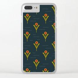 Ukraine Poppies Clear iPhone Case