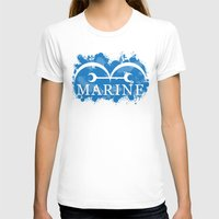 marine T-shirts featuring Marine by rKrovs