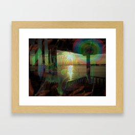 Fall River Gas Framed Art Print