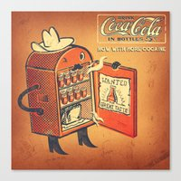 cocaine Canvas Prints featuring Cocaine Cola by TheNazzaro