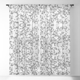 Black and White Static Sheer Curtain