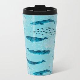 Whales and Jellies Metal Travel Mug