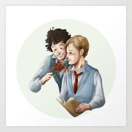 Grantaire et Combeferre Art Print