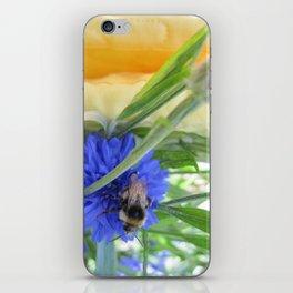 Cornflower Bee iPhone Skin