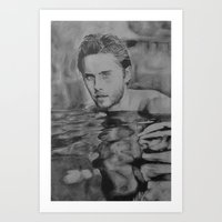 jared leto Art Prints featuring Jared Leto on water  by Jenn