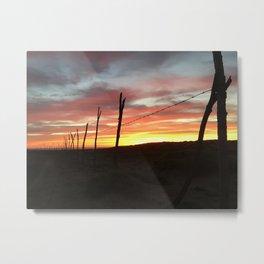 Punta Baja Sunset Metal Print