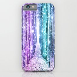 Magical Forest Lavender Aqua Teal Ombre iPhone Case