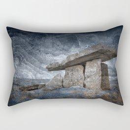 Poulnabrone Dolmen - Blue Winter Grunge Rectangular Pillow