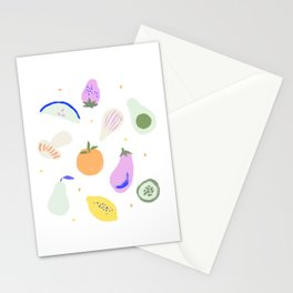 Fruits & Veggies Stationery Cards