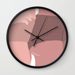 girl on girl on girl Wall Clock