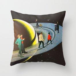 Saturn's Rink Throw Pillow