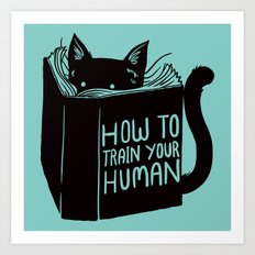 Cat Reader Advice Art Print