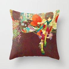 Alex in Wanderland Throw Pillow