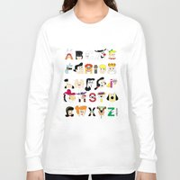60s Long Sleeve T-shirts featuring Child of the 60s Alphabet by Mike Boon