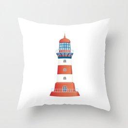 nautical lighthouse Throw Pillow