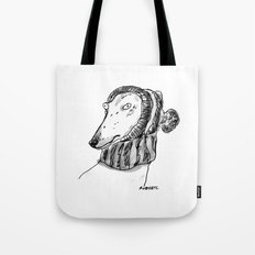 winter greyhound Tote Bag