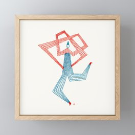 Sr Pretzel Framed Mini Art Print