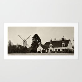 The Windmill and the house Art Print