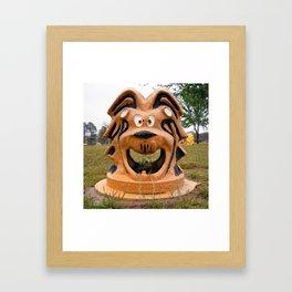The Cowardly Lion, Bernstein Park, Monroe, LA. Framed Art Print