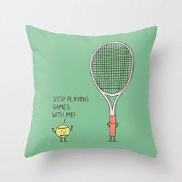 Angry ball Throw Pillow