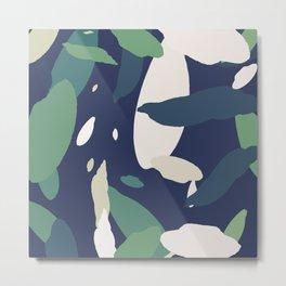 Pattern Abstrait Formes Colors Tropical Metal Print
