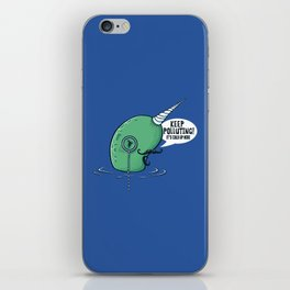 Evil Narwhal Favors Global Warming iPhone Skin