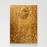 gold glitter Stationery Cards featuring Glitter Gold by Saundra Myles