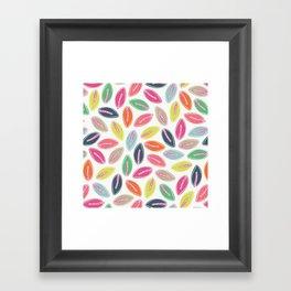 Bright Leaves Framed Art Print