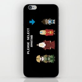 Avatar Selection Screen iPhone Skin