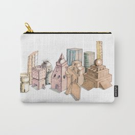 the city painted in pastel colours . illustration . art Carry-All Pouch