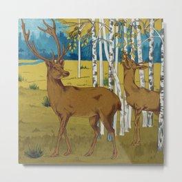 Deers Metal Print