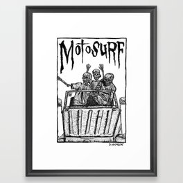 Motosurf Framed Art Print