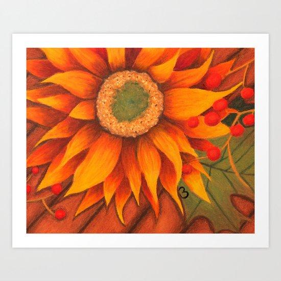 Tammi's Fall Sunflower Art Print